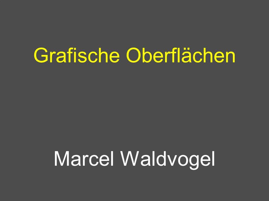 Marcel Waldvogel, IBM Zurich Research Laboratory, Universität Konstanz, 15.10.2001, 2 Grafische Oberflächen Kommandoeingabe bisher als Text WIMP: Windows, Icons, Menus, Pointer Späte 70er: Xerox PARC Apple und Microsoft klauten von PARC X11 (X Window System) Plan 9, MS Windows, NeXTSTEP (Display PostScript); (abstrakte) Toolkits: Java awt