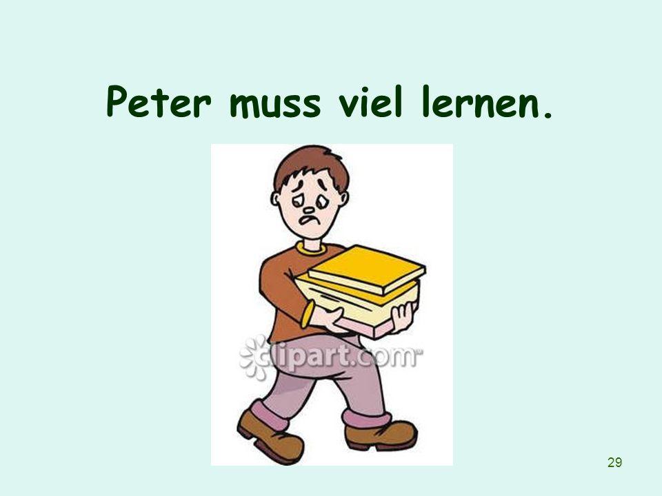 29 Peter muss viel lernen.