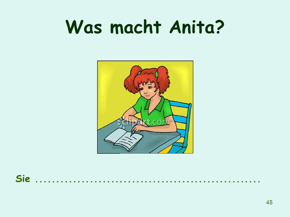 45 Was macht Anita? Sie......................................................