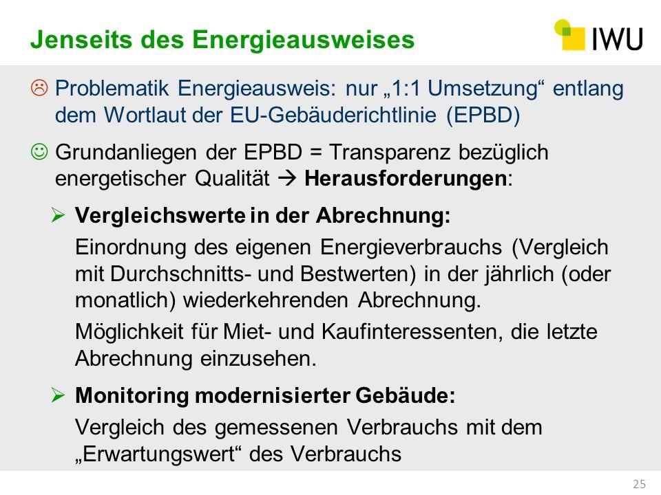 Problematik Energieausweis: nur 1:1 Umsetzung entlang dem Wortlaut der EU-Gebäuderichtlinie (EPBD) Grundanliegen der EPBD = Transparenz bezüglich ener