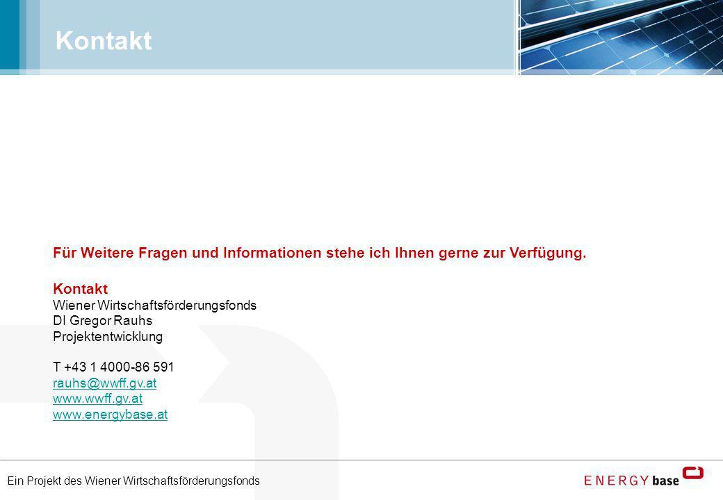 Ein Projekt des Wiener Wirtschaftsförderungsfonds Kontakt Wiener Wirtschaftsförderungsfonds DI Gregor Rauhs Projektentwicklung T +43 1 4000-86 591 rau