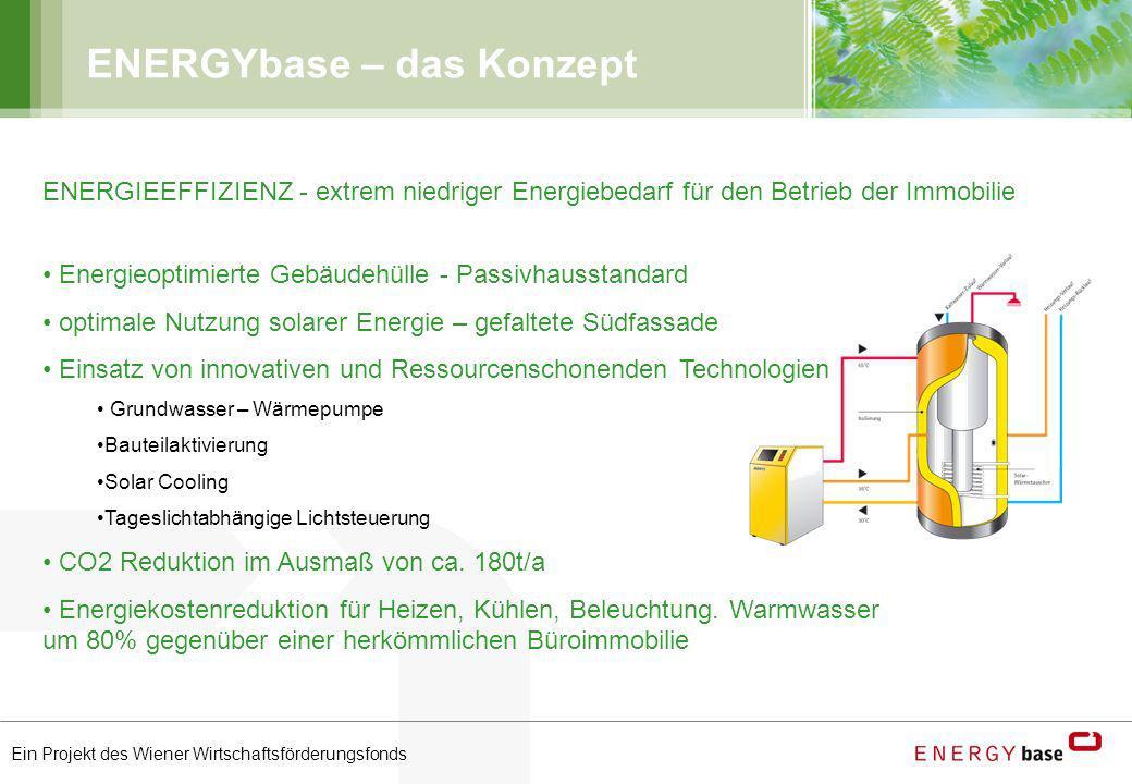 Ein Projekt des Wiener Wirtschaftsförderungsfonds ENERGYbase – das Konzept ENERGIEEFFIZIENZ - extrem niedriger Energiebedarf für den Betrieb der Immob
