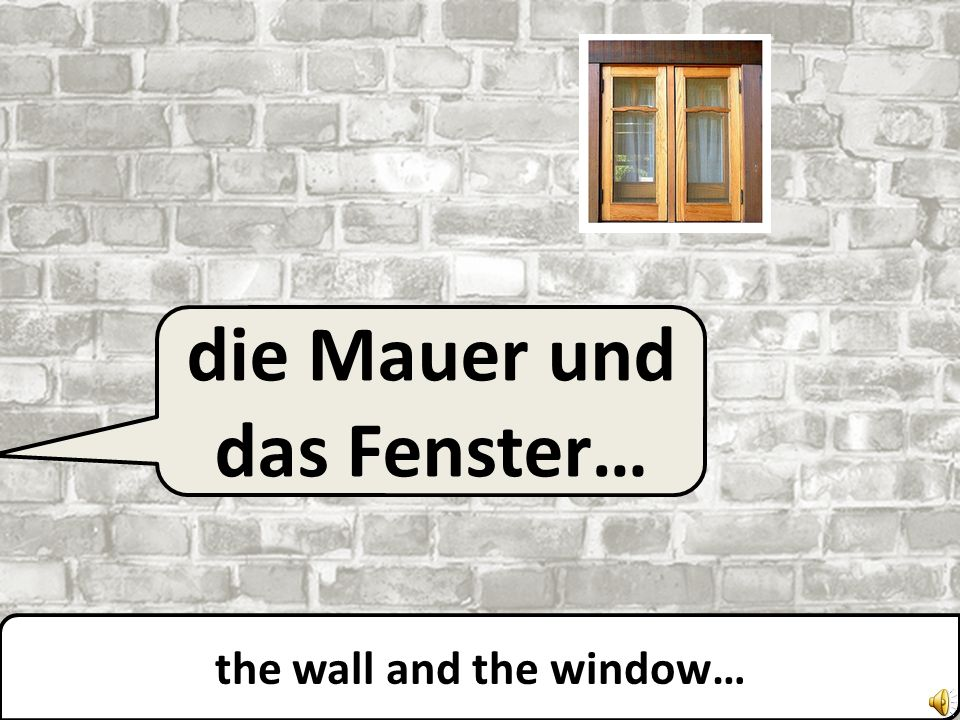 die Mauer… the wall…