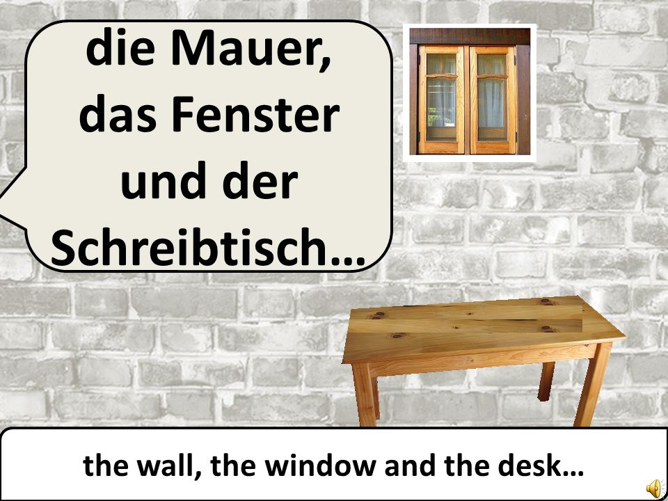 die Mauer und das Fenster… the wall and the window…