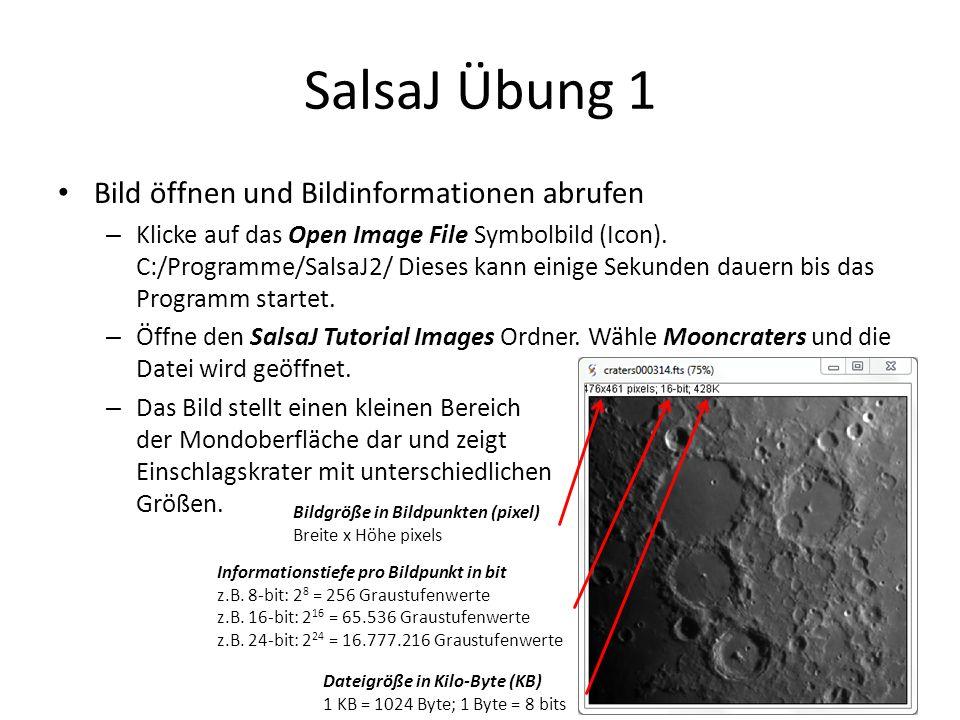 SalsaJ Übung 1 Bild öffnen und Bildinformationen abrufen – Klicke auf das Open Image File Symbolbild (Icon).