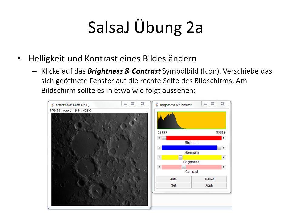 SalsaJ Übung 2a Helligkeit und Kontrast eines Bildes ändern – Klicke auf das Brightness & Contrast Symbolbild (Icon).