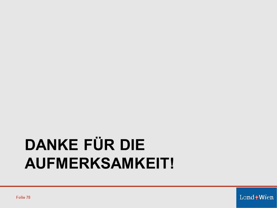 DANKE FÜR DIE AUFMERKSAMKEIT! Folie 78