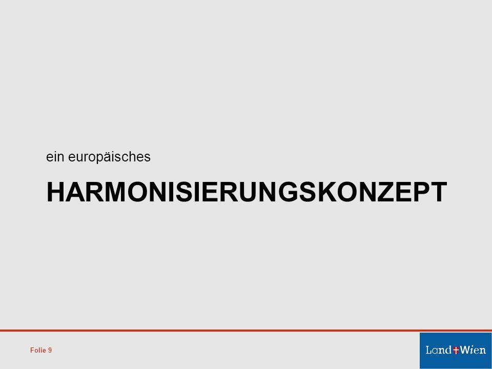 HARMONISIERUNGSKONZEPT ein europäisches Folie 9