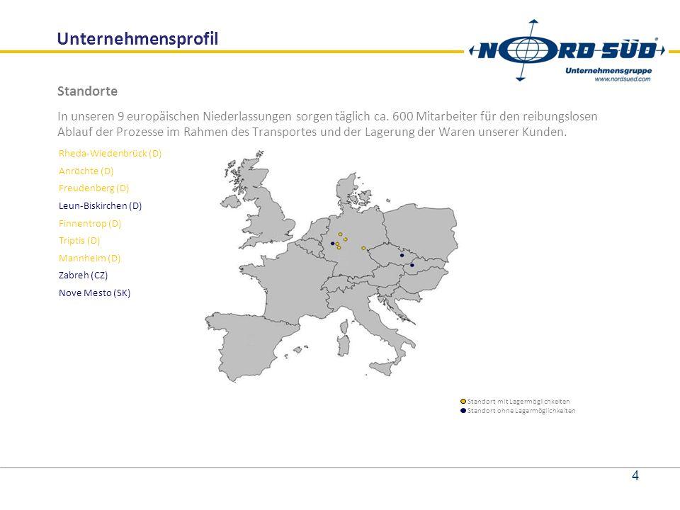 Standorte In unseren 9 europäischen Niederlassungen sorgen täglich ca.