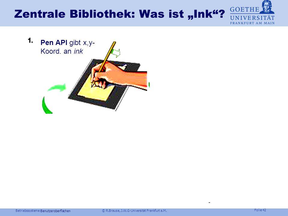 Betriebssysteme: © R.Brause, J.W.G-Universität Frankfurt a.M. Folie 41 Implementierung Benutzeroberflächen Server mit Autoren-Erkenner Client Visitenf