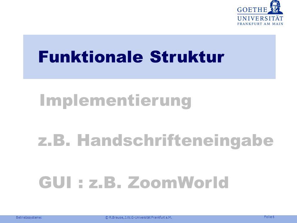 Betriebssysteme: © R.Brause, J.W.G-Universität Frankfurt a.M. Folie 5 Benutzeroberflächen-Design Beispiel Windows NT : MS Style Guides Konsistenz (con