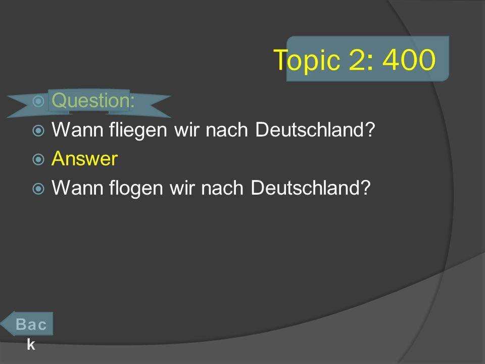 Topic 4: 600 Question: Du duschst ______ immer am Morgen. Answer dich