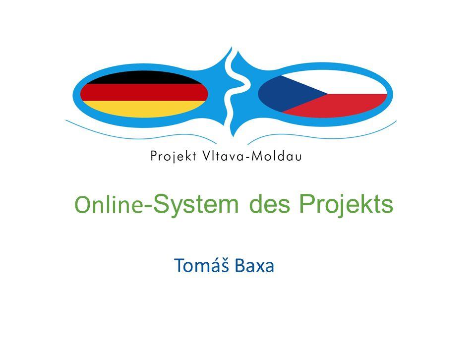 Online -System des Projekts Tomáš Baxa