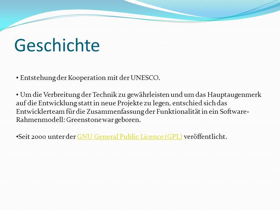 Geschichte Entstehung der Kooperation mit der UNESCO. Um die Verbreitung der Technik zu gewährleisten und um das Hauptaugenmerk auf die Entwicklung st