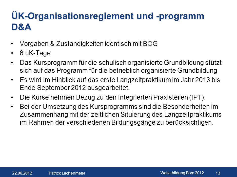 22.06.2012 Weiterbildung BiVo 2012 14 Patrick Lachenmeier Material Online auf www.ehb-schweiz.ch