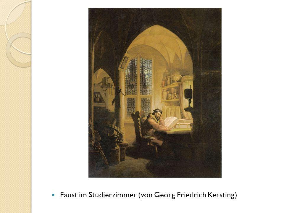 Faust im Studierzimmer (von Georg Friedrich Kersting)