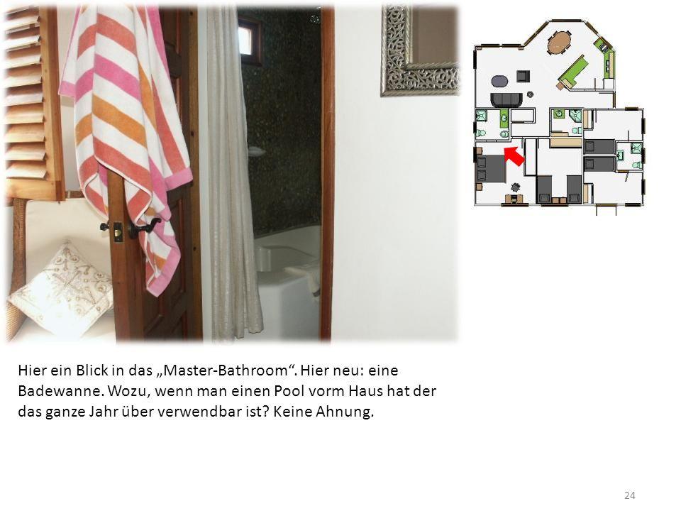 24 Hier ein Blick in das Master-Bathroom. Hier neu: eine Badewanne.
