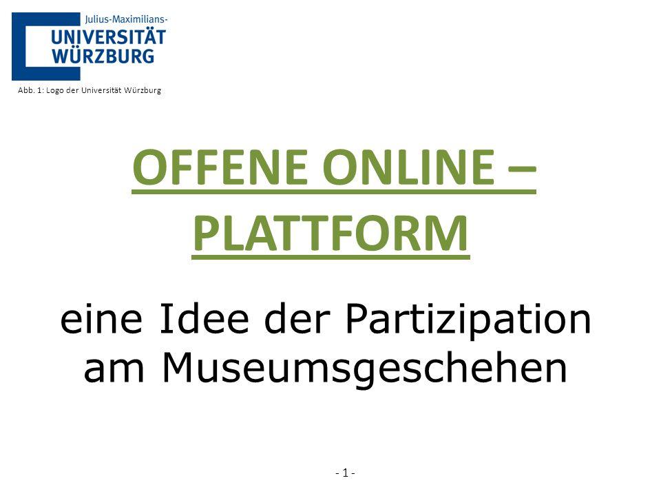 eine Idee der Partizipation am Museumsgeschehen PLATTFORM - 1 - Abb.