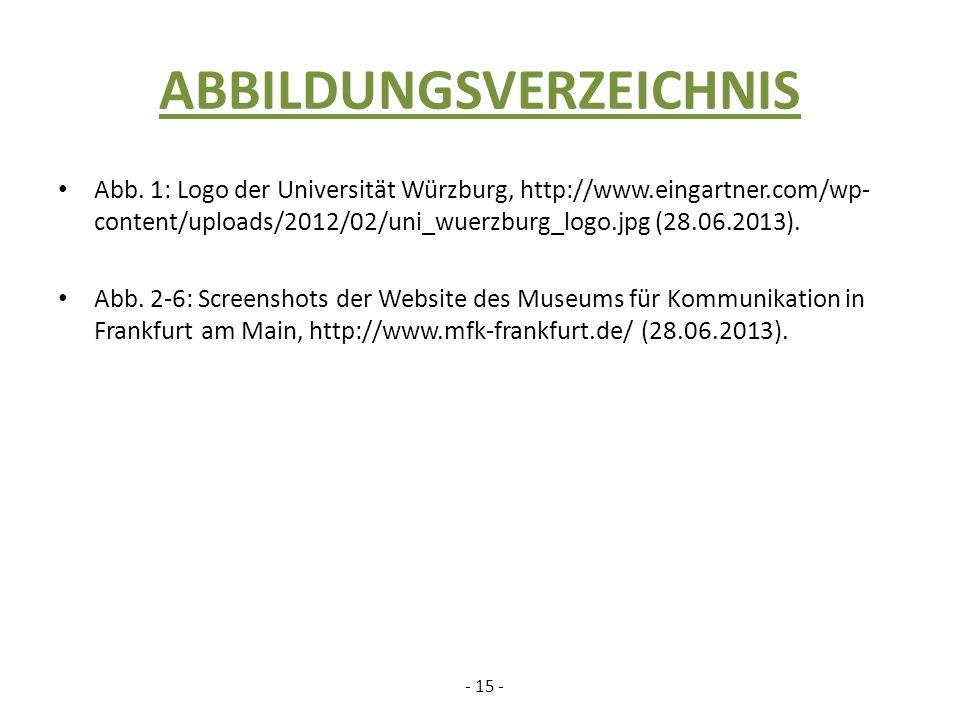 ABBILDUNGSVERZEICHNIS Abb.