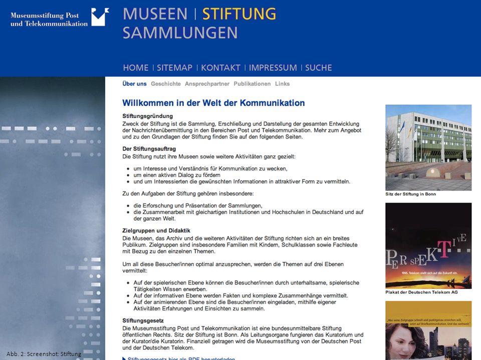Abb. 2: Screenshot: Stiftung
