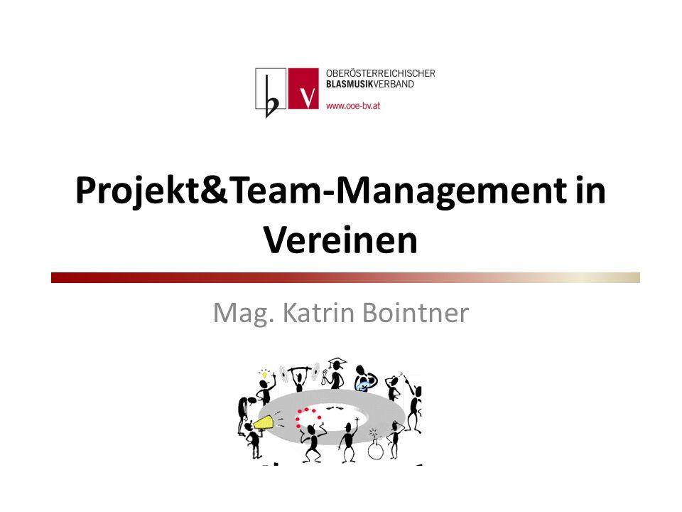 Projekt&Team-Management in Vereinen Mag. Katrin Bointner