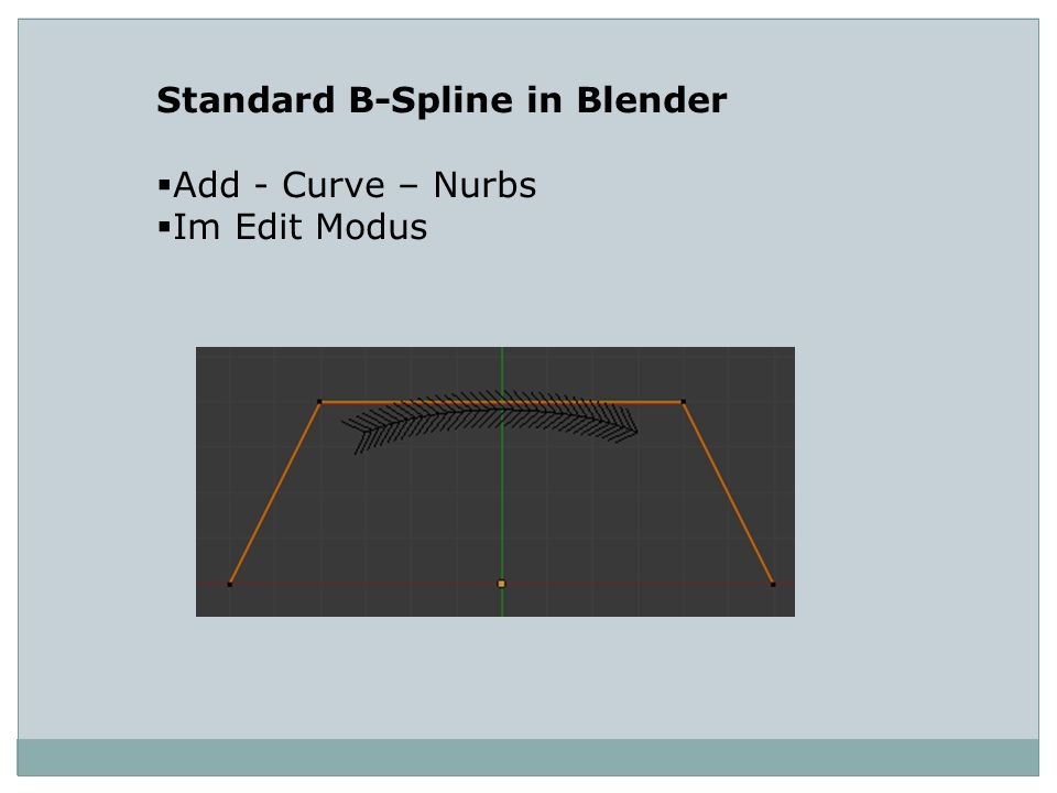 Standard B-Spline in Blender Add - Curve – Nurbs Im Edit Modus