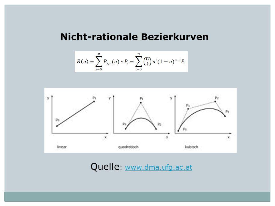 Nicht-rationale Bezierkurven Quelle : www.dma.ufg.ac.atwww.dma.ufg.ac.at