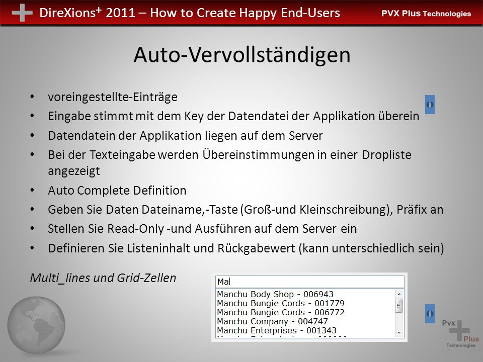 DireXions + 2011 – How to Create Happy End-Users Und mehr...