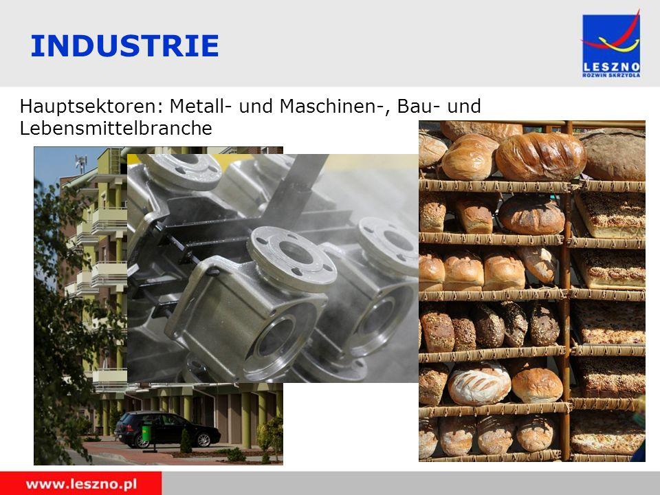 INDUSTRIE Hauptsektoren: Metall- und Maschinen-, Bau- und Lebensmittelbranche
