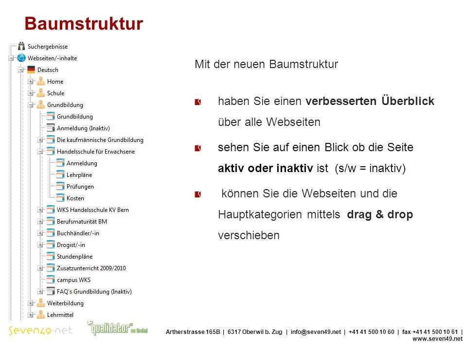 Baumstruktur Artherstrasse 165B | 6317 Oberwil b.