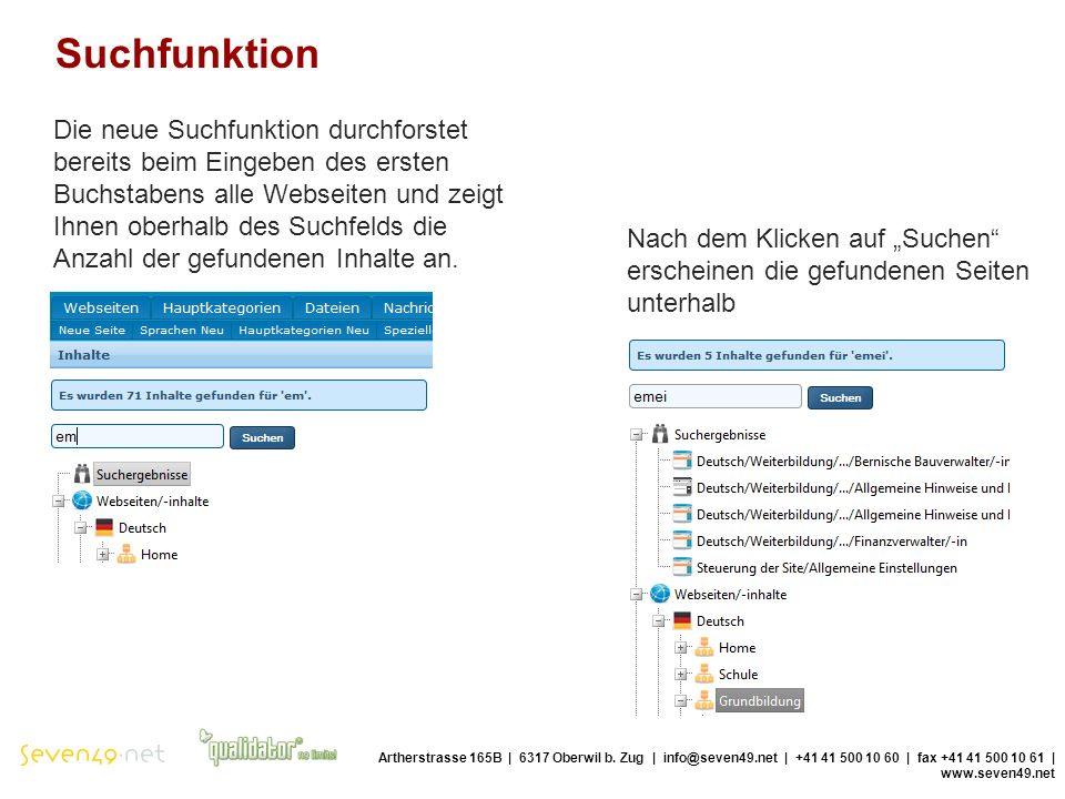 Suchfunktion Artherstrasse 165B | 6317 Oberwil b.