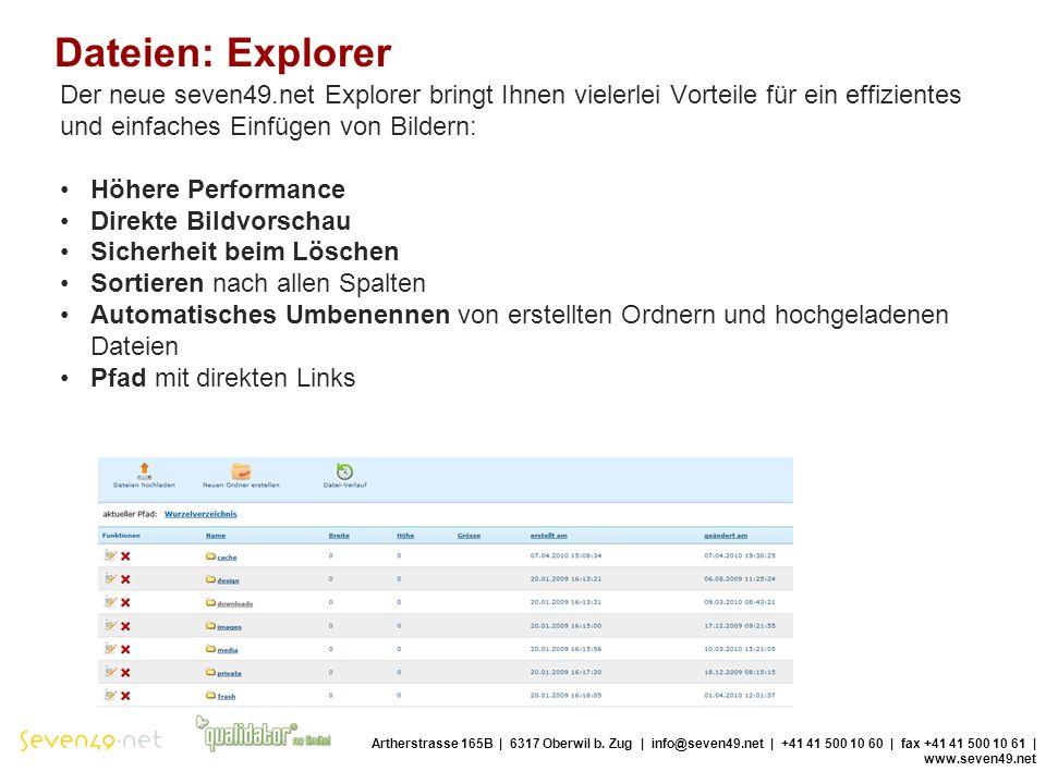 Dateien: Explorer Artherstrasse 165B | 6317 Oberwil b.