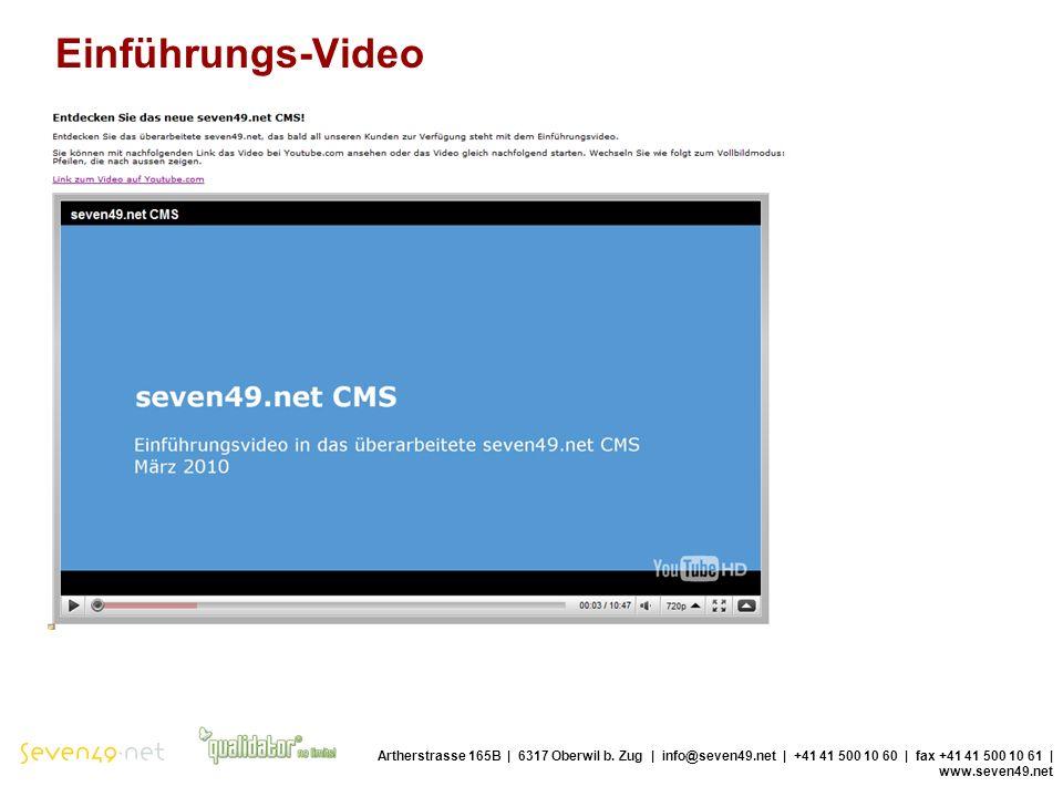 Einführungs-Video Artherstrasse 165B | 6317 Oberwil b.