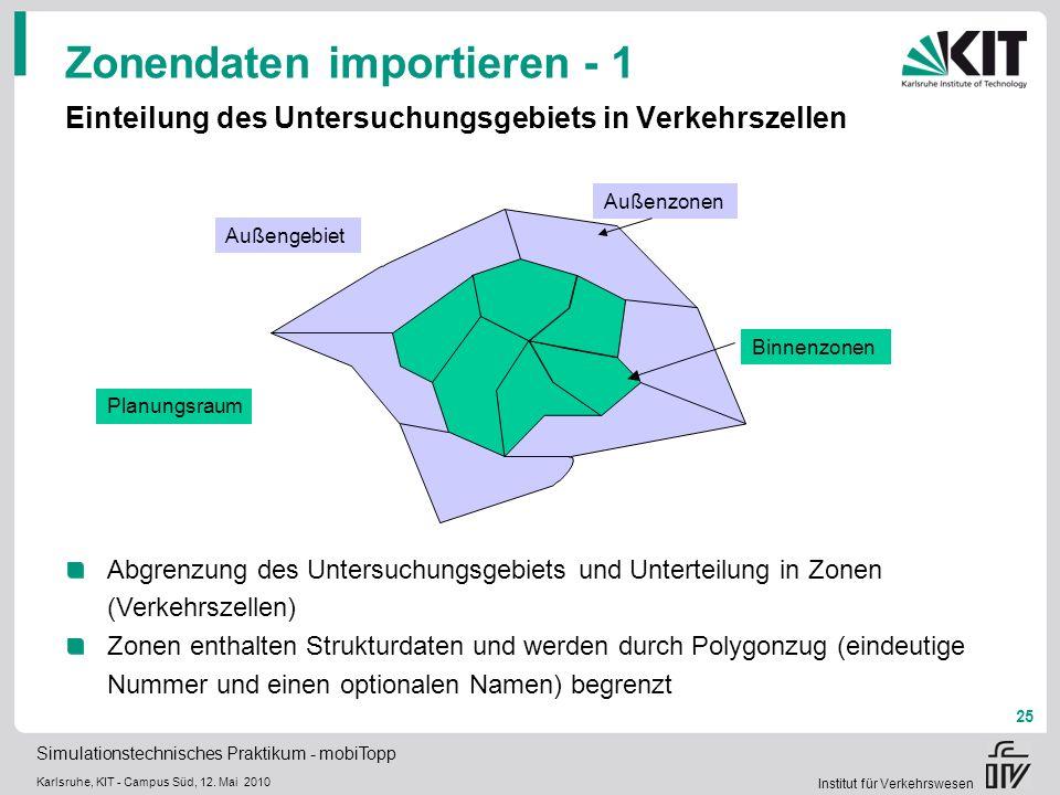 Simulationstechnisches Praktikum - mobiTopp Karlsruhe, KIT - Campus Süd, 12.