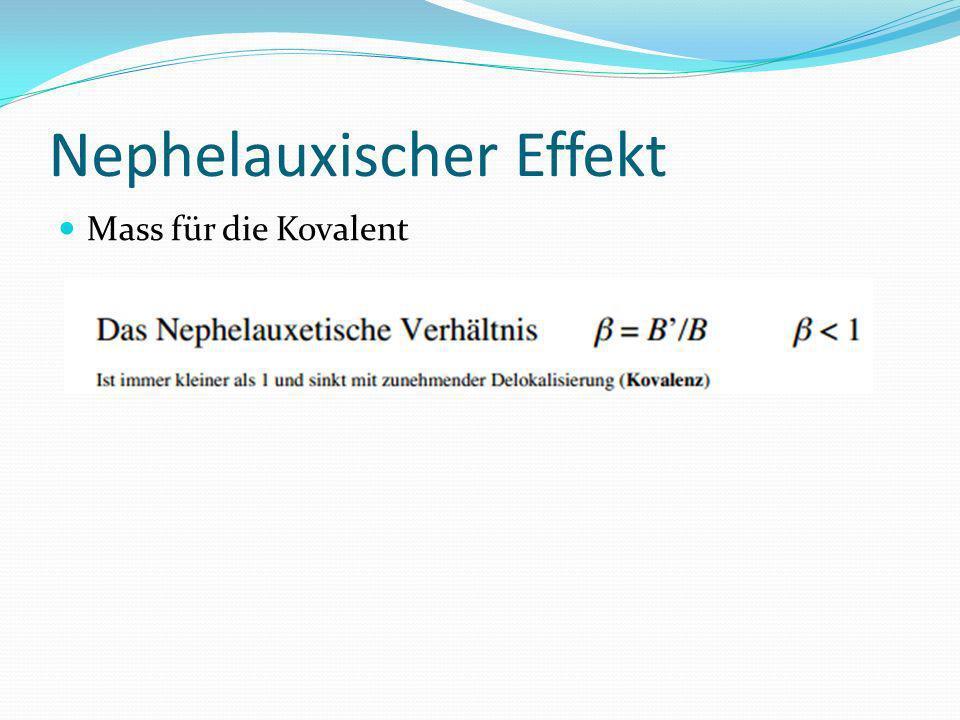 Nephelauxischer Effekt Mass für die Kovalent