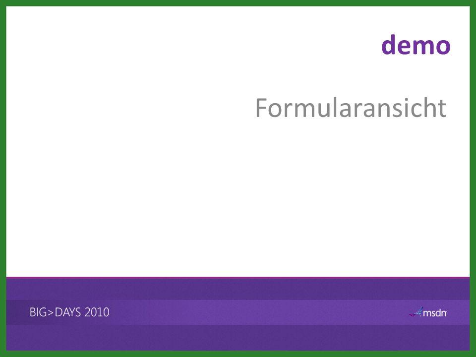 demo Formularansicht