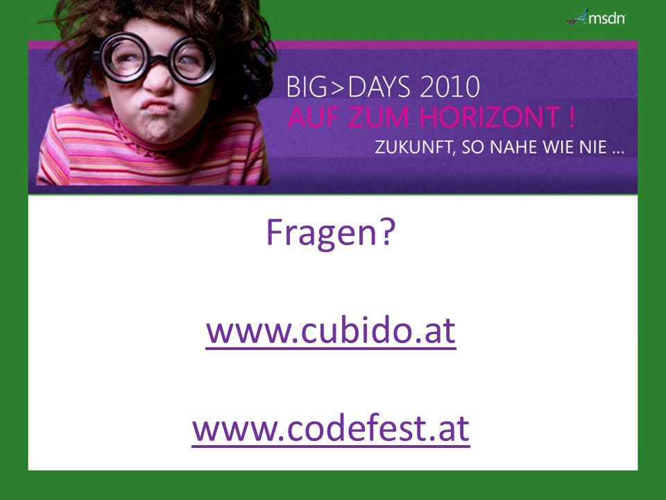 Fragen www.cubido.at www.codefest.at