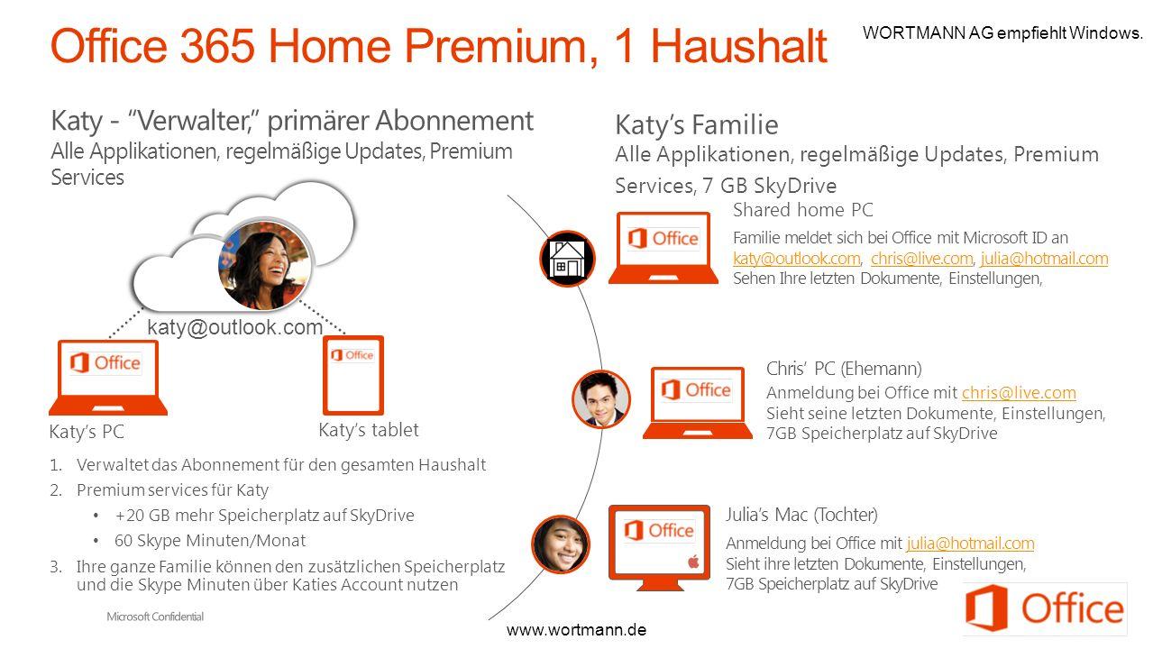 Katy - Verwalter, primärer Abonnement Alle Applikationen, regelmäßige Updates, Premium Services 1.Verwaltet das Abonnement für den gesamten Haushalt 2