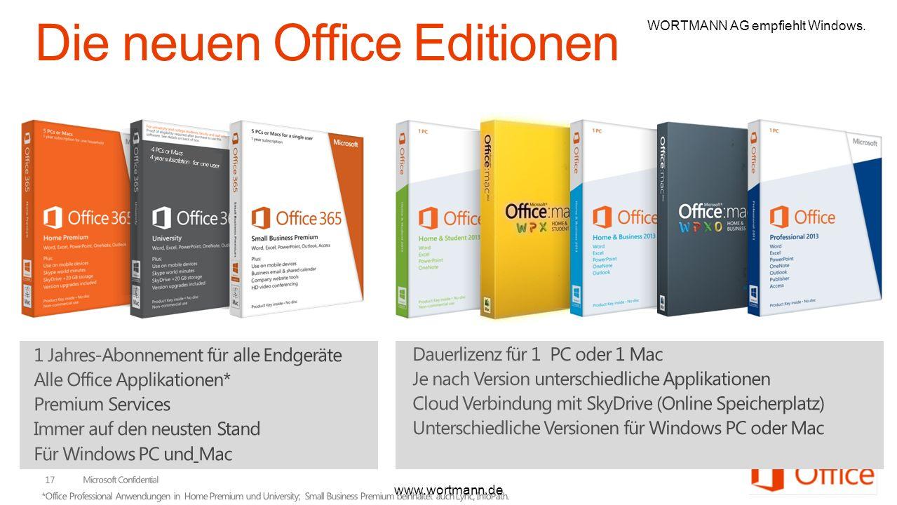 4 PCs or Macs 4 year subscribtion for one user www.wortmann.de WORTMANN AG empfiehlt Windows.