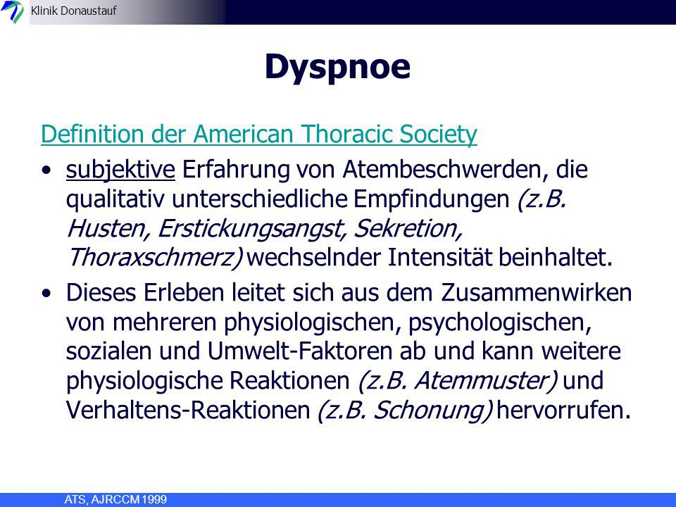 Klinik Donaustauf Therapie: pharmakologisch –Opiate inhalativ Jennings AL, Cochrane Database Syst Rev 2001; Jennings AL, Thorax 2002