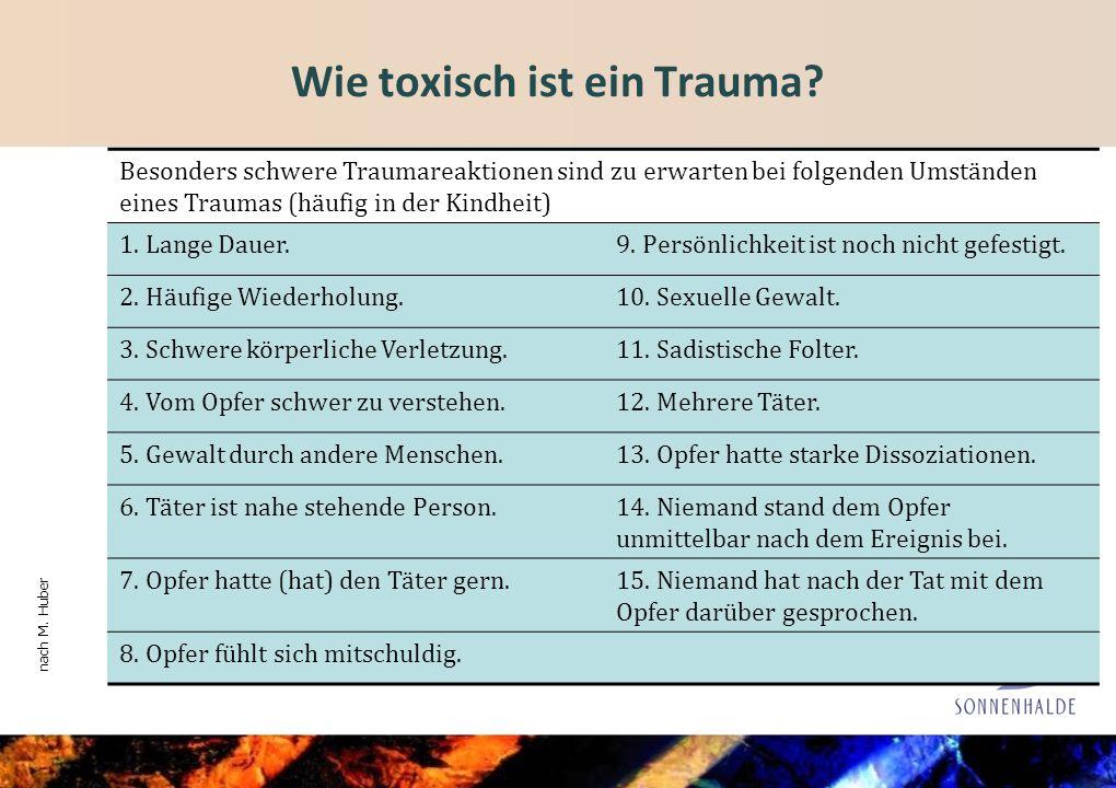 Wie toxisch ist ein Trauma.