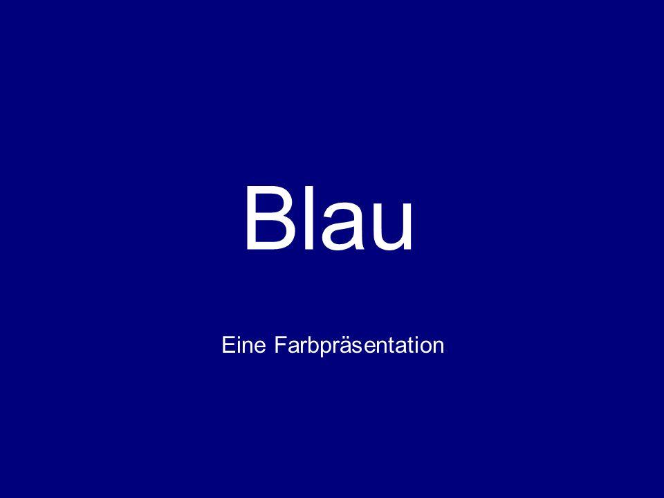 Blau Eine Farbpräsentation