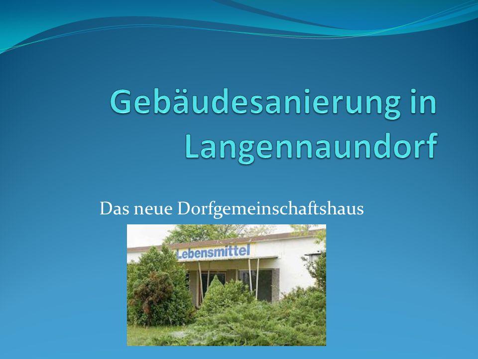 Gliederung 1.Langennaundorf – der alte Dorfkonsum (Zustand) 2.