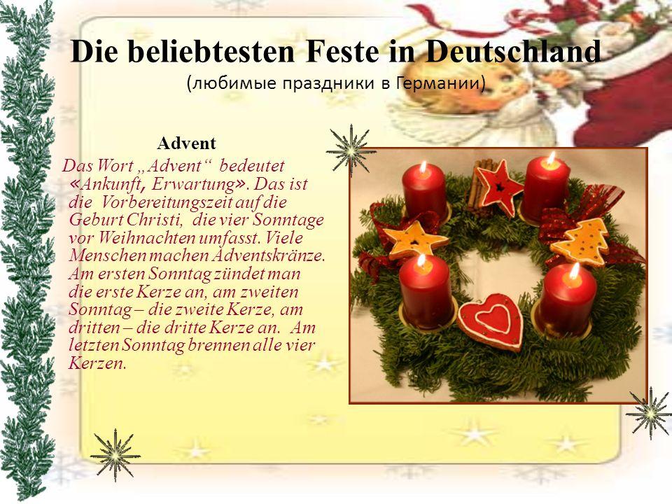 Neujahr (Новый Год) Das neue Jahr, sogenannt Silvester, begegnen die Deutschen zurückhaltend.