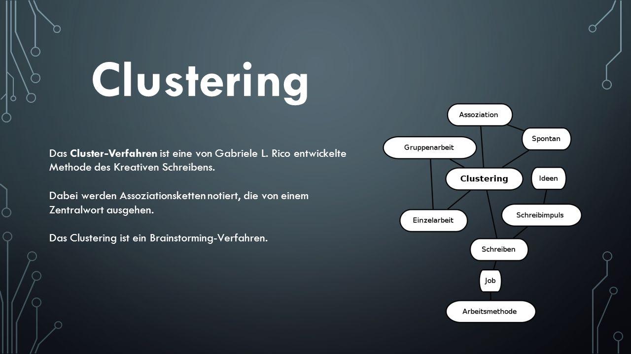 Das Cluster-Verfahren ist eine von Gabriele L. Rico entwickelte Methode des Kreativen Schreibens. Dabei werden Assoziationsketten notiert, die von ein