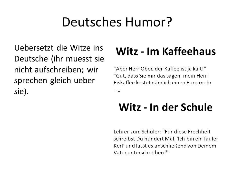 Deutsches Humor.