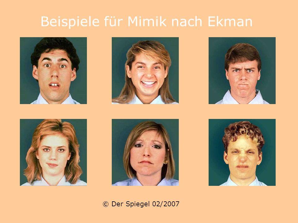 Der Spiegel 02/2007 Der US-Psychologe Paul Ekman trainiert Sicherheitsbeamte, in den Gesichtern von Flugpassagieren böse Absichten zu erkennen. Mit Sp