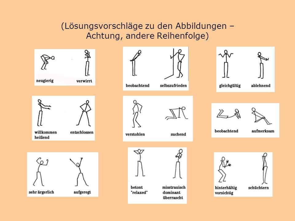 Körpersprache des Lehrers im Frontalunterricht Abbildung aus: Argyle, Michael (1979): Körpersprache und Kommunikation., 8. Aufl. Paderborn: Jungferman