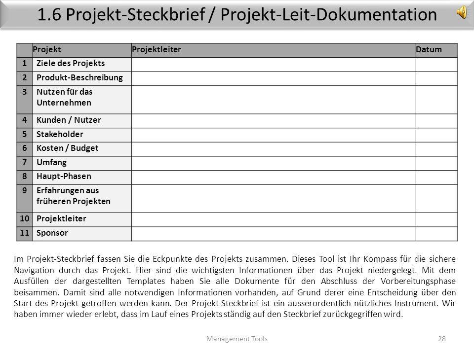 Rolle Projektleiter Management Tools27 Der Projektleiter sollte etwas von der Materie verstehen, mit der er es zu tun hat, aber er muss nicht allwisse
