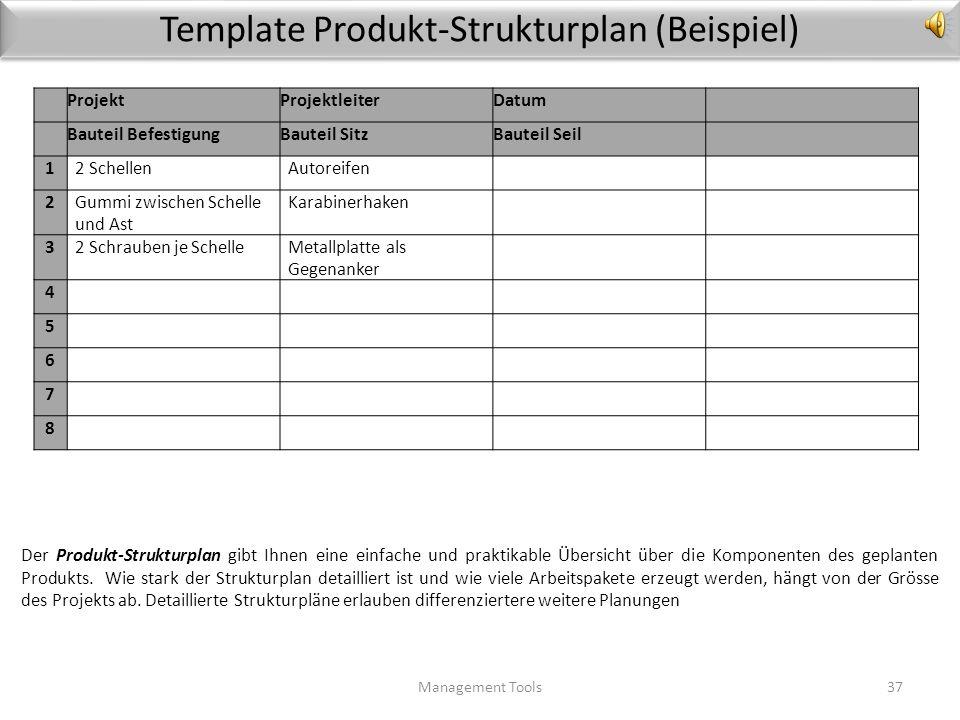 Leitlinien Produkt-Entwicklung Management Tools36 Wie Sie am besten vorgehen, um die Anforderungen erfolgreich umzusetzen: 1.Zerlegen Sie das Produkt